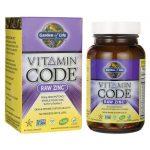 Garden of Life Vitamin Code Raw Zinc 60 Vegan Caps Immune Support
