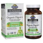 Garden of Life Dr. Formulated Enzymes Organic Digest+ 90 Chewables Digestive Health and Fiber