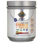 Garden of Life Sport Organic Plant-Based Energy + Focus – Blackberry Cherry 8.1 oz Powder
