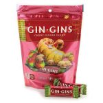 Ginger People Gin-Gins Chewy Candy Spicy Apple 3 oz Bags Digestive Health and Fiber