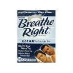 Breathe Right Nasal Strips Clear – Large 30 ct Respiratory Health