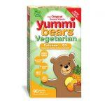 Hero Nutritionals Yummi Bears Vegetarian Calcium + D3 90 Gummies Bone Health