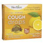 Herbion Cough Drops – Honey Lemon 18 Lozenges Immune Support