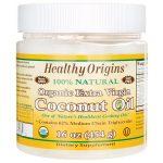 Healthy Origins Organic Extra Virgin Coconut Oil 16 oz Solid Oil Essential Fatty Acids