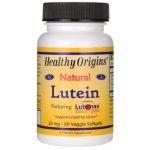 Healthy Origins Lutein 20 mg 60 Veg Soft Gels Vision Health