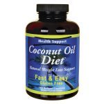Health Support Coconut Oil Diet 180 Soft Gels Weight Loss