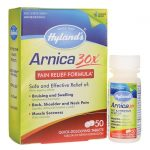 Hyland's Arnica 30X 50 Tabs Muscle Pain and Stiffness