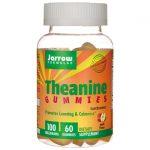 Jarrow Formulas, Inc. Theanine Gummies – Apple Flavor 100 mg 60 Gummies Stress and Mood
