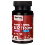 Jarrow Formulas, Inc. Methyl B-12 & Folate + P-5-P – Cherry 60 Lozenges B Vitamins