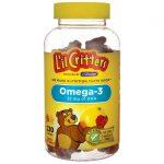 L'il Critters Omega-3 – Natural Fruit Flavors 120 Gummies Essential Fatty Acids