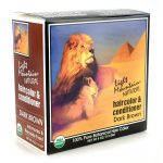 Light Mountain Natural Hair Color & Conditioner – Dark Brown 4 oz Box