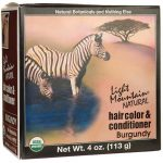 Light Mountain Hair Color & Conditioner – Burgundy 1 Box