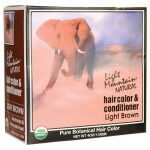 Light Mountain Hair Color & Conditioner – Brown 1 Box