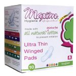 Maxim Hygiene Products Ultra Thin Winged Pads – Super 10 ct Women's Health