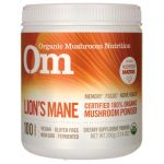 Organic Mushroom Nutrition Lion's Mane – Certified 100% Powder 7.14 oz Powder Memory and Brain Health