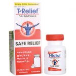 MediNatura T-Relief Pain Relief Tablets 100 Chewables Muscle Pain and Stiffness