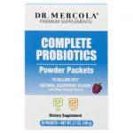 Dr. Mercola Complete Probiotics Powder Packets – Raspberry 70 Billion CFU 30 Packets