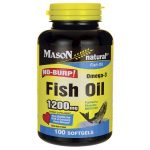 Mason Natural Fish Oil No-Burp 1,200 mg 100 Soft Gels Essential Fatty Acids