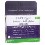 Natrol Probiotic Acidophilus Biobeads 2 Billion CFU 30 ct