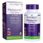 Natrol Melatonin Calm Sleep Fast Dissolve – Strawberry 6 mg 60 Tabs Sleep and Relaxation