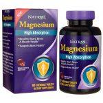 Natrol High Absorption Magnesium – Cranberry Apple Flavor 250 mg 60 Chewables Bone Health