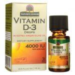 Nature's Answer Vitamin D-3 Drops 4,000 Iu 0.5 fl oz Liquid Bone Health