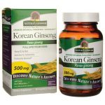 Nature's Answer Korean Ginseng 500 mg 50 Veg Caps Immune Support