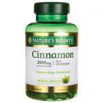 Nature's Bounty Cinnamon Plus Chromium 2,000 mg 60 Caps Blood Sugar Support