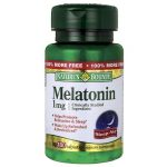 Nature's Bounty Melatonin 1 mg 180 Tabs Sleep and Relaxation