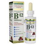 Nature's Bounty Sublingual Liquid Super Strength B-12 – Natural Berry Flavor 5,000 mcg 2 fl oz Liquid B Vitamins