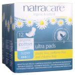 Natracare Organic Cotton Cover Ultra Pads – Super 12 ct Women's Health