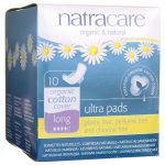 Natracare Organic Cotton Cover Ultra Pads – Long 10 ct Women's Health