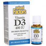 Natural Factors Vitamin D3 Drops 400 Iu 0.5 fl oz Liquid Bone Health