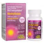 Natural Factors Biocoenzymated Methylfolate plus B12 60 Tabs B Vitamins