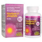 Natural Factors Biocoenzymated Riboflavin 5′-phosphate B2 50 mg 30 Vegan Caps B Vitamins