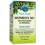 Natural Factors Pure Food Women's 50+ Multivitamin & Mineral 60 Tabs