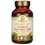 NutriGold Turmeric Curcumin Gold 500 mg 120 Veg Caps Joint Health