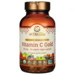 NutriGold Organic Whole-Food Vitamin C Gold 240 mg 90 Veg Caps Immune Support