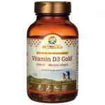 NutriGold Vitamin D3 Gold 5,000 Iu 360 Soft Gels Bone Health