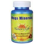 Nature's Life Mega Minerals 100 Veg Caps Health Minerals
