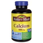 Nature Made Calcium with Vitamin D3 600 mg 100 Soft Gels Bone Health