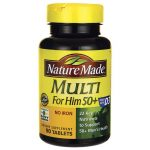 Nature Made Multi For Him 50+ No Iron 90 Tabs Multivitamins