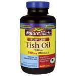 Nature Made Fish Oil Burp-Less 1,200 mg 200 Soft Gels Essential Fatty Acids
