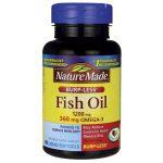 Nature Made Fish Oil – Burp-Less 1,200 mg 60 Soft Gels Essential Fatty Acids