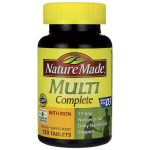 Nature Made Multi Complete with Iron 130 Tabs Vitamin C Multivitamins