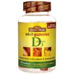 Nature Made Adult Gummies Vitamin D3 90 Gummies Bone Health