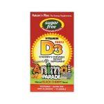 Nature's Plus Animal Parade Sugar Free Vitamin D3 500 Iu 90 Chewables Bone Health