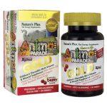 Nature's Plus Animal Parade Gold Multi-Vitamin & Mineral – Cherry Flavor 60 Chewables Children's Multivitamins