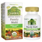 Nature's Plus Source of Life Garden Certified Organic Family Multi 60 Chewables Vitamin C Multivitamins