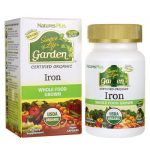 Nature's Plus Source of Life Garden Certified Organic Iron 30 Vegan Caps Health Minerals